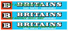 Britains Toys Farm & Zoo Models Logo Advert Leaflet Sign Mini Poster x 3