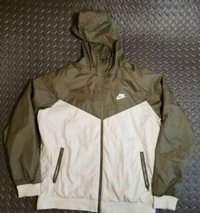 Mens Nike Sportswear windbreaker Jacket green Size Large full zip