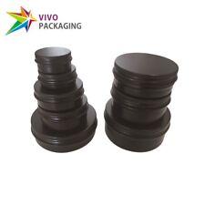 Matt Black Aluminium Tin, Screw Cap, Lip Balm Jar Container, Small Round Tins