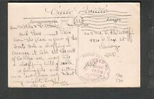 1943 WWII Army & Naval censor Bizerte Tunisia post card APO 700 Oran to Chicago