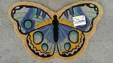 Butterfly - Profile Cut - Natural Coir on Durable PVC Backing Door Mat