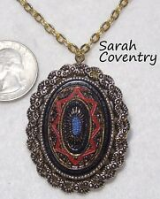 Vintage Signed SARAH COV Large Pin/Pendant Necklace, 1969 OLD VIENNA, 24""