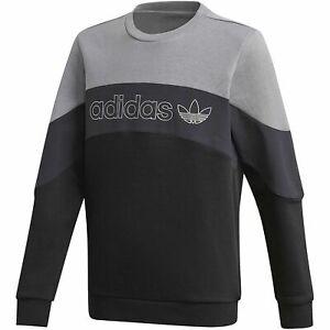 adidas Originals boys black / grey BX 2.0 Crew neck sweat top. Various sizes!