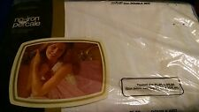 JCPenney No Iron Percale White Flat Sheet NIP Double Bed Fashion Manor 81x98
