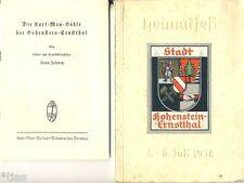 Festschrift zum Heimatfest Hohenstein Ernstthal 1938 und Beilage Karl May-Höhle
