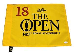 Collin Morikawa Signed 2021 British Open Championship Autographed Golf Flag JSA