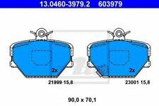 Kit de plaquettes de frein SMART CABRIO (450) CITY-COUPE (450) CROSSBLADE (450)