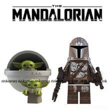 NEW STAR WARS FIGURE MANDALORIAN & BABY YODA WITH MINIFIGURE