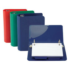 Oxford Index Card File Binder, 50-Card Capacity, Assorted Colors