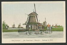 """Oost-Zaandam  """"De Hondeman"""" Pelmolen  Gesloopt in 1912"""