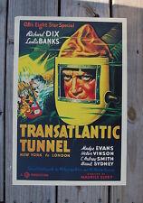 Transatlantic Tunnel Lobby Card Movie PosterRichard Dix Leslie Banks