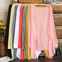 New Women Summer Long Sleeve Sun Protection Sunscreen Cardigan Blouse Tops Shirt