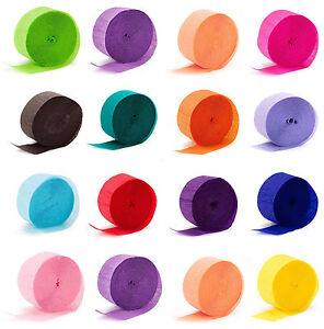 Crepe Rolls Streamer Paper Party Wedding Celebration Birthday Decoration Colours