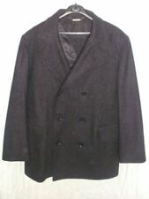 Blazer Wool Collared Double Breasted Coats & Jackets for Men