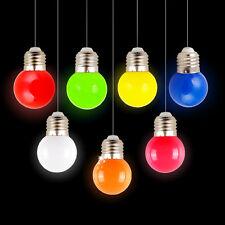 Neuf 1W E27 coloré Rond LED Balle De Golf Ampoule Lampe Lumière