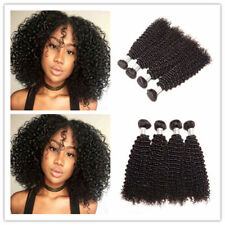 4Bundles/200g Kinky Curly Peruvian Unprocessed Virgin Human Hair Extensions weft