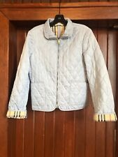 Burberry London Blue Quilted Utility Jacket Small
