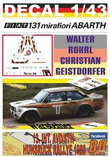 DECAL 1/43 FIAT 131 ABARTH W.ROHRL HUNSRUCK R. 1980 WINNER (01)