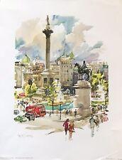 Vintage Print Trafalgar Square By Cecile Ryden Johnson, 1972