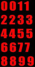 Red Reflective Vinyl Address Custom Number Decals Squeegee Included