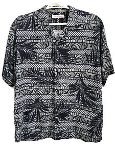 Tommy Bahama Short Sleeve Button-Up Silk Hawaiian Shirt Men's Size XL