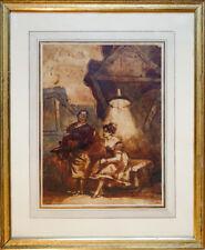 Isidore Grandville ou Henry Monnier Mr Prudhomme au théâtre 1850 23x17cm(dessin)