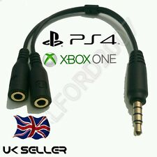 3.5 male -2 x 3.5 female cable lead adapts PC Gaming Headset to use on XBOX/PS4