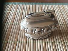 Vintage Ronson Crown Table Lighter with Original Gift Box, Brush, & Instructions