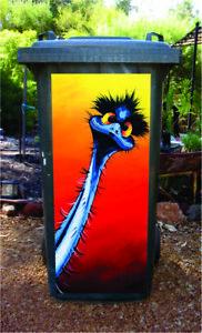 Stunned Emu Wheelie bin sticker