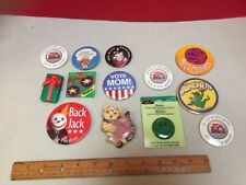 Lot Of 13 Vintage  90's Buttons Pins Collection Rideshare EA Sports Jack In The