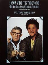 BOBBY VINTON & George Burns: Je sais ce qu'il est d'être jeune (partitions) - Comme neuf!