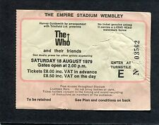 1979 The Who AC/DC Bon Scott concert ticket stub London Wembley  Who Are You