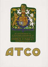 ATCO Vintage Mower George VI Coat of Arms Decal