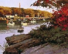 Don Demers AUTUMN IN LITTLE RIVER, Boothbay Harbor, Maine giclee canvas #42/75