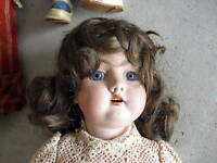 Antique Bisque Composition Handwerck 421 Girl Doll LOOK