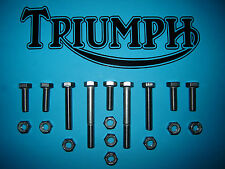 Triumph TR7 T140E T140D Polished Stainless Engine Plate Mounting Kit New