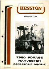 HESSTON 7680 FORAGE HARVESTER OPERATORS MANUAL