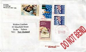 USA - AIRMAIL COVER TO NEW ZEALAND - USED - W 510