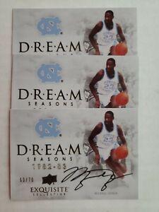 (3) Michael Jordan 2012 13 UD Exquisite Collection Dream Seasons Auto *REPRINT*