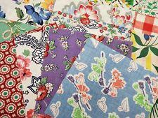 "Best 20 Vintage Variety Lot Feedsack Fabric Quilt 5x5"" Charm Pieces Flour Sack"