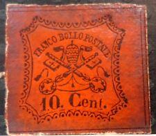 1867 italian Papal / Roman States Italy 10c Stamp S-108