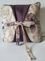 "Croscill Discontinued Chambord Cassis Purple Floral Throw Pillow Large 16"" htf"