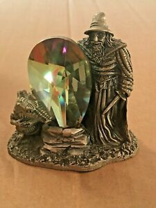 Boxed Tudor Mint Myth & Magic The Crystal Shield Pewter Ornament 9009