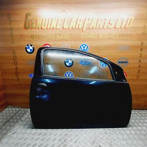 PEUGEOT 107 3DR HATCHBACK DRIVER SIDE O/S FRONT BARE DOOR BLACK 2007-2012