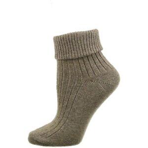 Wool/Cotton Blend Turn Cuff Socks, Woolen Winter Season, Women's Turn Cuff Socks