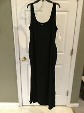 OLD NAVY BLACK MATERNITY SIDE-SLIT MAXI TANK DRESS NEW w/TAGS SIZE LARGE