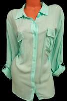 A new approach green 3/4 sleeves plus sheer see through buttoned down top 3X