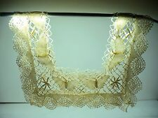Antique Vintage Bobbin Lace Collar Bodice Butterfly Motif Excellent Condition