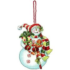Snowman & Gingerbread Boy & Sweets Ornament Cross Stitch Kit by Dimensions
