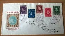 FDC E24 Kinderzegels met adres